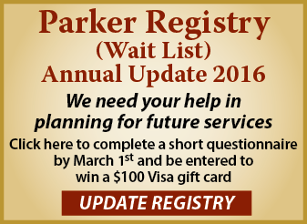 Click here to update your Parker Registry listing.