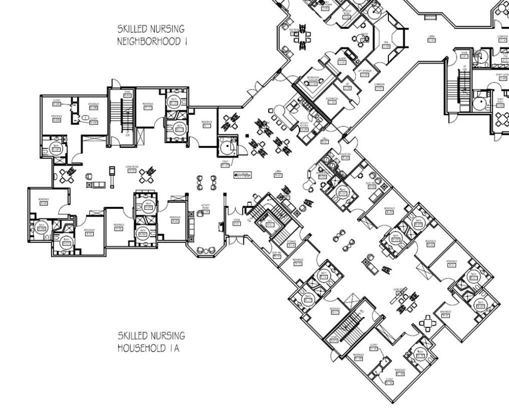 nursing home house plans arts